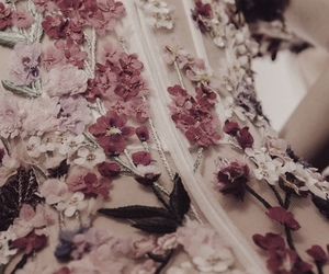 dress, flowers, and royal image