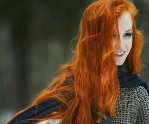 red hair, hair, and warrior image