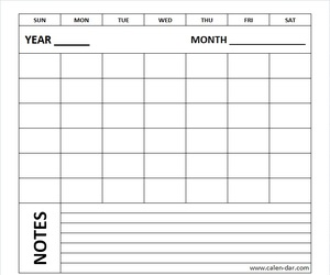 blank monthly calendar, blank calendar, and printable calendar image