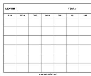 printable calendar, blank monthly calendar, and blank calendar image