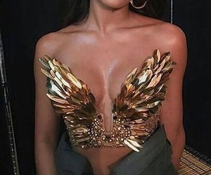 fashion, gold, and model image