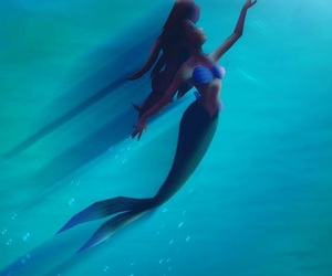 ariel, background, and mermaid image