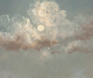art, clouds, and moon image