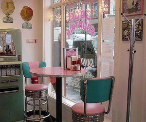 vintage, pink, and diner image