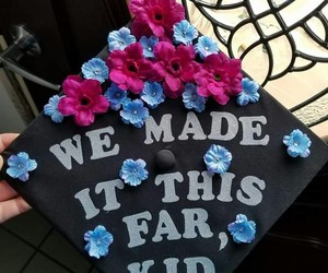college, graduation, and quotes image