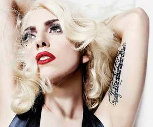 Lady gaga, gaga, and tattoo image