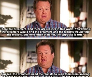 dreamers, quotes, and modern family image