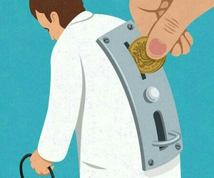 money, doctor, and art image