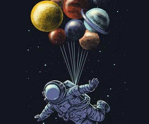 planet, astronaut, and space image