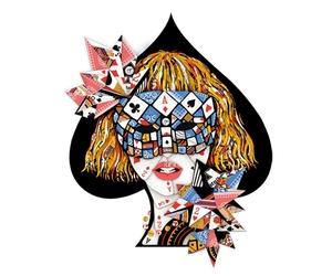 illustration, poker face, and Lady gaga image