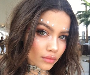 girl, makeup, and coachella image