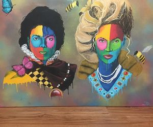 michael jackson, beyonce art, and queen bey image