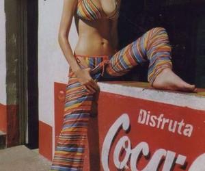 70s, girl, and beach image