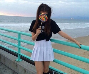 girl, lolly, and summer image