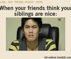 siblings, funny, and friends image