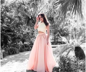 delicate, dress, and pink image