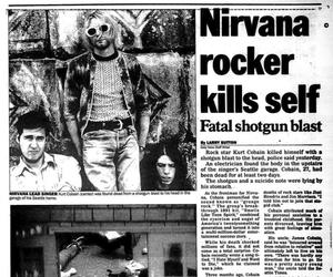 cobain, death, and grunge image