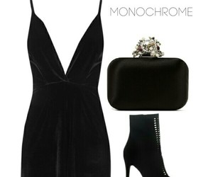 dresses, Polyvore, and monochrome image