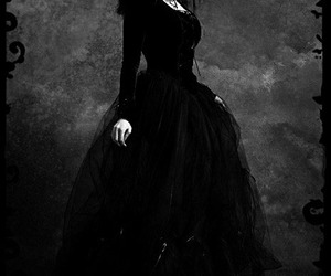 gothic, black, and fashion image