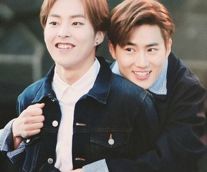 exo, xiumin, and suho image