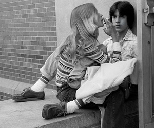 70s, black and white, and couple image