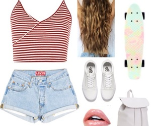 backpack, Polyvore, and shorts image