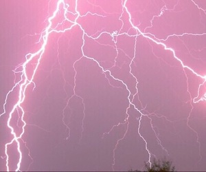heaven, pink, and flash of lightning image