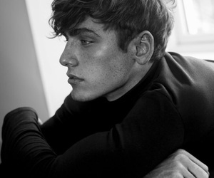 boy, black and white, and handsome image