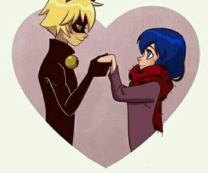 Chat Noir, miraculous ladybug, and marinette image