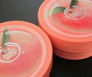 peachy, peach, and theme image