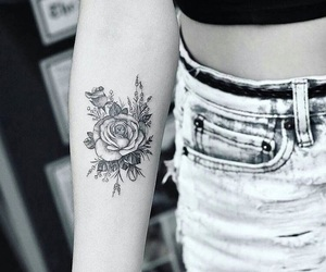 alternative, arm, and flowers image