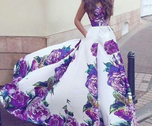 dress, style, and purple image
