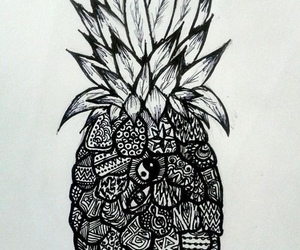 pineapple, ananas, and draw image