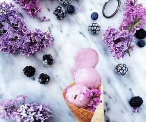 ice cream flowers fruits image