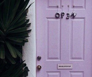purple, door, and aesthetic image