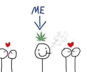 love, me, and weed image
