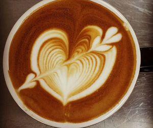 arrow, latte art, and coffee image