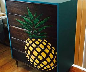 diy, stencils, and furniture image