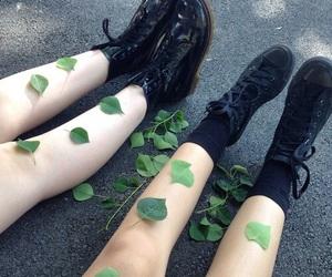 grunge, leaves, and black image