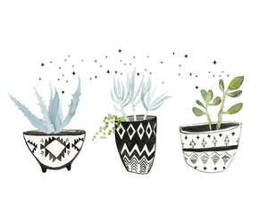 illustration, cute, and plants image
