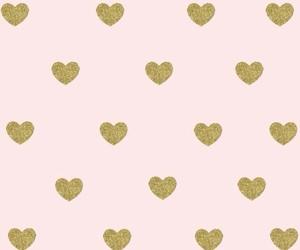 wallpaper, pink, and hearts image