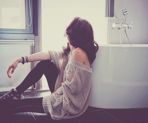 girl and alone image