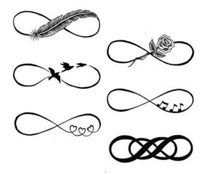 infinity, tattoo, and bird image