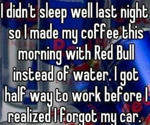 funny, coffee, and red bull image