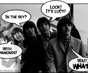 the beatles and lucy in the sky with diamonds image