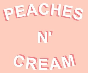peach, aesthetic, and cream image