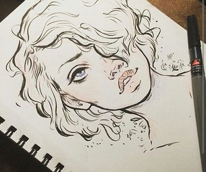 drawing, girls, and cute image