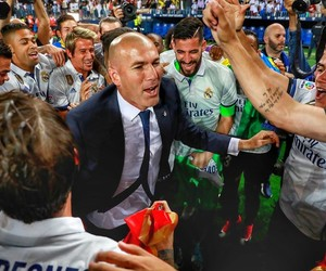 real madrid, zidane, and champions image