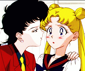 sailor moon, usagi tsukino, and seiya kou image