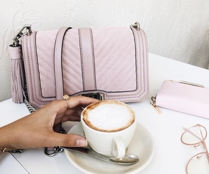 coffee, bag, and pink image